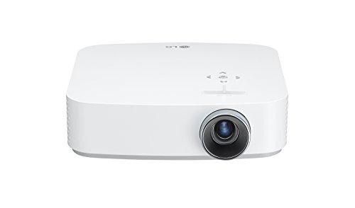 LG CineBeam PF50KS - Proyector TV con SmartTV webOS 3.5 y batería integrada (hasta 100', autonomía 2,5 horas, fuente LED, 600 lúmenes, 1920 X 1080) Color Blanco