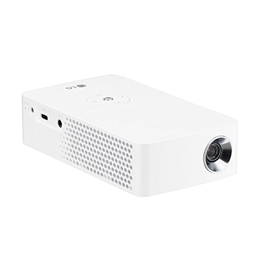LG CineBeam PH30JG - Proyector con batería integrada (hasta 100', autonomía 4 horas, fuente LED, 250 lúmenes, 1280 x 720) Color Blanco
