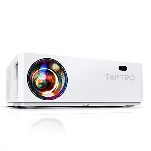 TOPTRO TR81 - Proyector Bluetooth 1080P, 7200 Lúmenes Full HD 1920x1080 Soporta 4K, Proyectores Cine en Casa LED 100.000 Horas, Pantalla Gigante 350'', Zoom X/Y, para TV Stick, PS4, PC, DVD