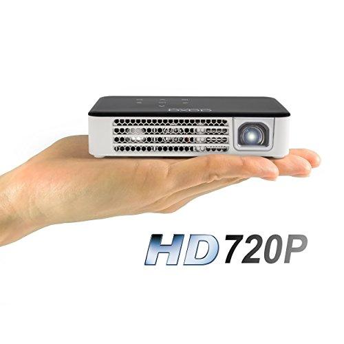 AAXA P300 Neo Pico Proyector, Batería de 2.5 Horas, Resolución Natural en HD de 720p (Soporta 1080p), Leds 30,000 Horas, Lúmenes 420 ANSI, Reproductor de Multimedia, HDMI, Mini-VGA