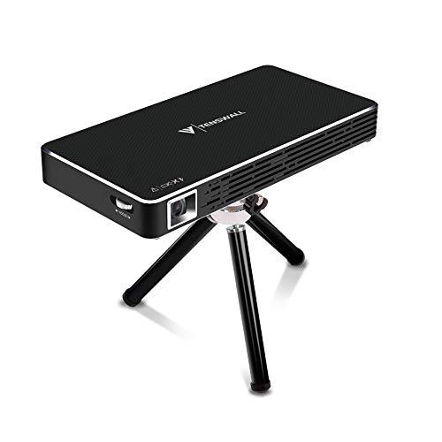 Mini Proyector, Tenswall Portátil DLP Video Proyectors Android 7.1 Pico Projector 1080P Full HD Home Cinema, Entrada HDMI a Su Ordenador Portátil/PC/PS4, Conectividad Inalámbrica Bluetooth Wi-Fi …