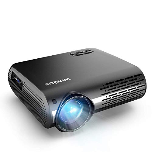 Wimius P20 - Proyector de vídeo Wimius 7000 Lúmenes Full HD 1920x1080P Nativo Soporta 4K Audio AC3 Ajuste Digital 4D 90,000 Horas LED para Cine en Casa y Presentación Empresarial