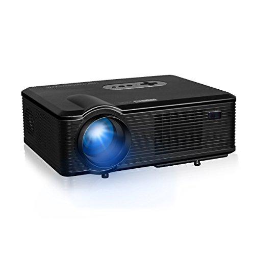 Excelvan CL720D - Proyector HD (3.000 lúmenes, 1.280 x 800, 16:9, Interfaz HDMI/USB/SD/AV/VGA, negro