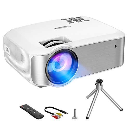 VicTsing Proyector,3200 Lúmenes Multimedia Vídeo Mini Proyector,1080P Full HD Proyector LED con Tecnología LCD,Proyector de Cine en Casa Compatible con HDMI,VGA,USB,AV,SD para Laptop,Android