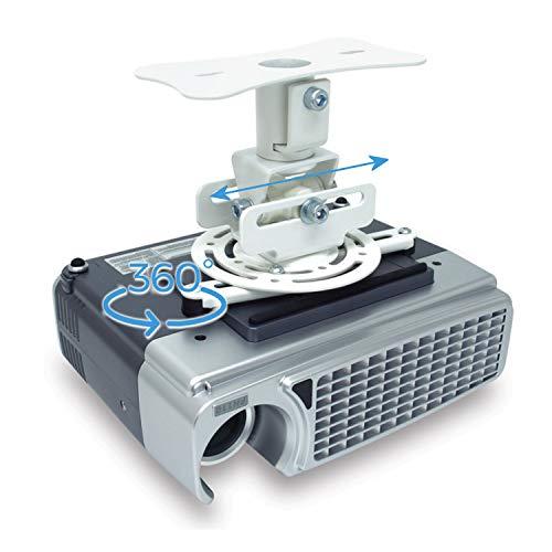 Soporte de Techo para proyector Universal, admite hasta 20kg (Soporte Universal 360 Grados)
