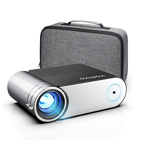Vamvo Proyector Full HD 1080P, Mini Proyector L4200 con Dolby, Proyector Portátil 5500 Lúmenes, 50000 Horas Vida, Cine en Casa Compatible con HDMI, VGA, AV, USB etc.