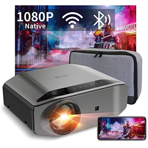 Artlii Energon 2 - Proyector WiFi Bluetooth 8000 Lúmenes, Full HD 1080P Nativo Soporta 4K, 300'' Cine en Casa, Smartphone Android e iOS