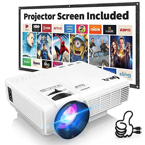 DR.Q HI-04 - Proyector de Video Compatible con TV Stick PS4 Xbox Wii HDMI VGA SD AV USB, Home Theater Proyector, Blanco.