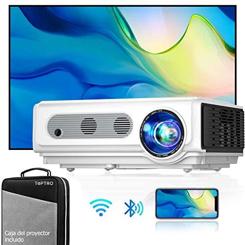 Toptro TR82 - Proyector WiFi Bluetooth Full HD 1080P, 7500 Lúmenes, Soporta 4K, Función de Zoom, Pantalla 300'' Contraste 10.000:1 LED Cine en Casa