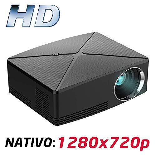 Proyector Full HD 1080P, LUXIMAGEN HD400 (2019 Nuevo), Proyector Barato Maxima luminosidad Portátil LED Cine en casa 1920x1080 HDMI USB VGA para PS4,Xbox,Switch, 720P Nativo