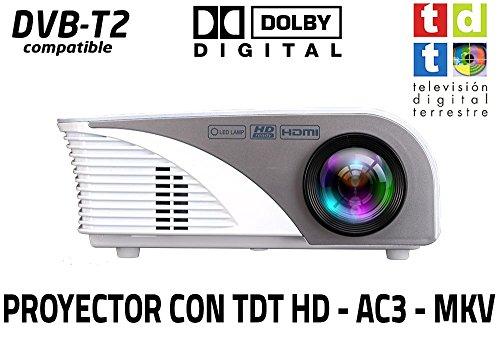 Proyector portatil Unicview SG100, soporta hasta FULLHD, con TV TDT de Alta definición, USB con decodificación Dolby AC3, HDMI, VGA, lámpara de 50.000 Horas