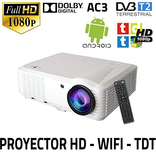proyector Unicview HD250 con WiFi, Android, TDT, USB, HDMI, AC3, 2 años de garantía