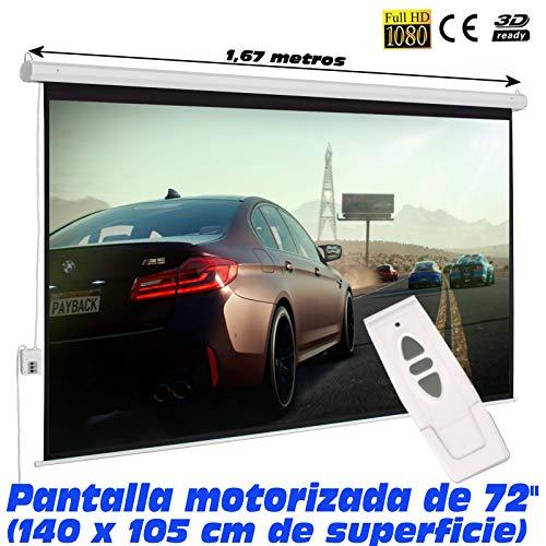 Luxscreen - Pantalla de proyección eléctrica desde 72'' hasta 150'' con control remoto